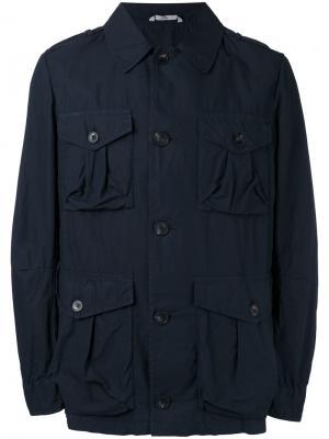 Куртка карго Hevo. Цвет: синий