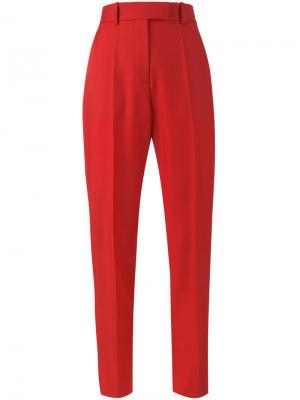 Полосатые брюки с завышенной талией Racil. Цвет: красный