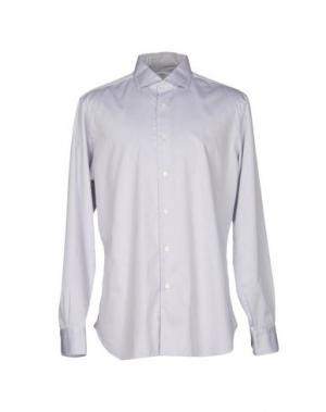 Pубашка BARBA NAPOLI. Цвет: светло-серый