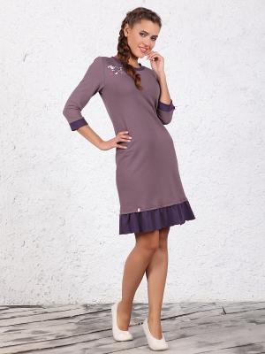 Платье NicClub. Цвет: серо-коричневый
