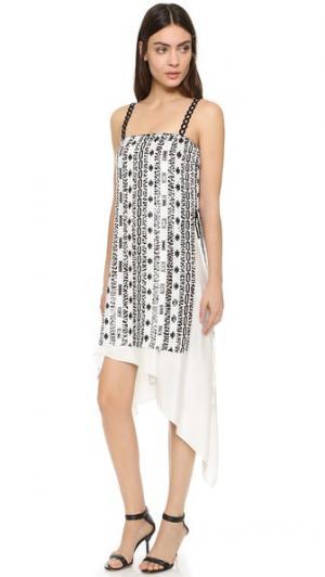 Платье с блестками в богемном стиле 3.1 Phillip Lim. Цвет: белый/медный