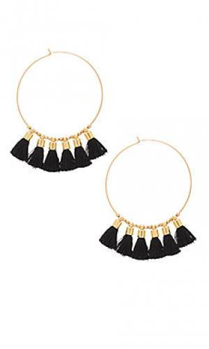 Серьги с серёжками sonia Mimi & Lu. Цвет: металлический золотой