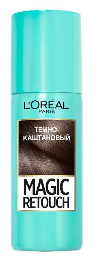 Временное окрашивание LOreal Paris L'Oreal Темно-каштановый. Цвет: темно-каштановый