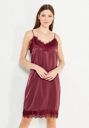 Платье Vila. Цвет: бордовый