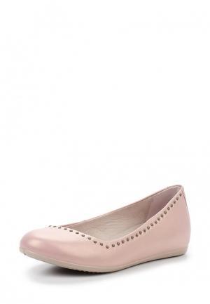 Балетки Ecco. Цвет: розовый