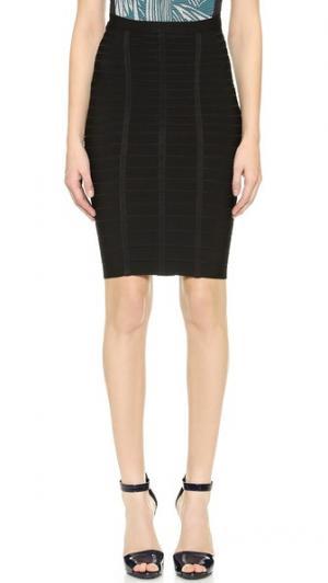 Короткая юбка-карандаш Sia Herve Leger. Цвет: голубой