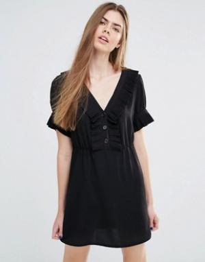 Vanessa Bruno Athé Платье с оборками и пуговицами Athe. Цвет: черный