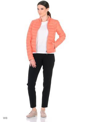 Куртка Lanicka. Цвет: бледно-розовый, белый, коралловый