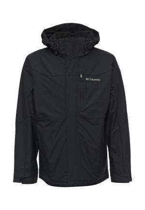 Куртка утепленная Columbia. Цвет: черно-белый