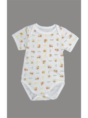 Боди для детей ORANGE BABY. Цвет: белый, желтый