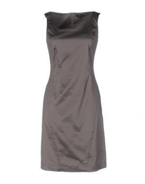 Короткое платье SILK AND SOIE. Цвет: свинцово-серый