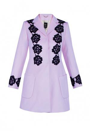 Пальто Anastasya Barsukova. Цвет: фиолетовый