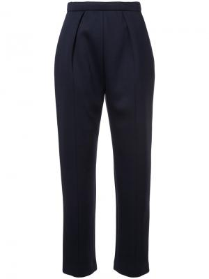 Строгие брюки Delpozo. Цвет: синий
