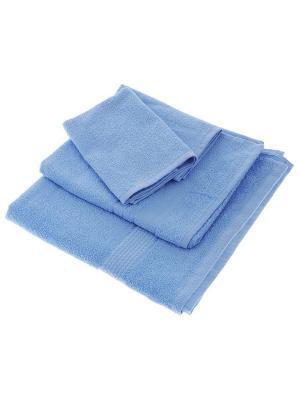 Махровое полотенце-голубой-70х140-100% хлопок, УзТ-МПБ-004-02-06 Aisha. Цвет: голубой