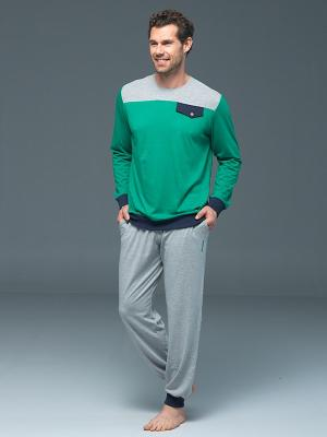 Домашний костюм BlackSpade. Цвет: зеленый, серый меланж