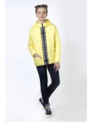 Куртка Sabotage. Цвет: желтый