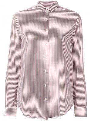 Рубашка в полоску Xacus. Цвет: розовый и фиолетовый