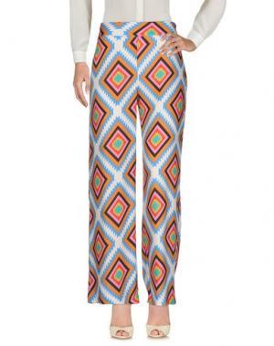 Повседневные брюки WHITE SAND 88. Цвет: лазурный