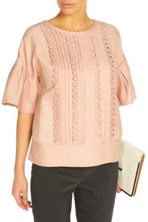 Блуза ZHOR&NEMA. Цвет: пудровый