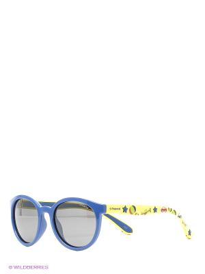 Очки Polaroid. Цвет: синий, серый, желтый