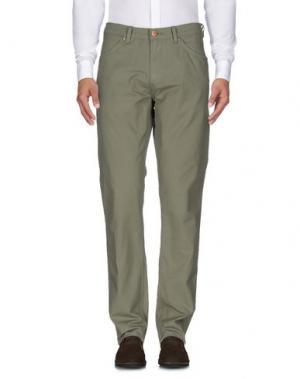 Повседневные брюки WRANGLER. Цвет: зеленый-милитари