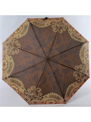 Зонт Zest. Цвет: темно-коричневый,горчичный