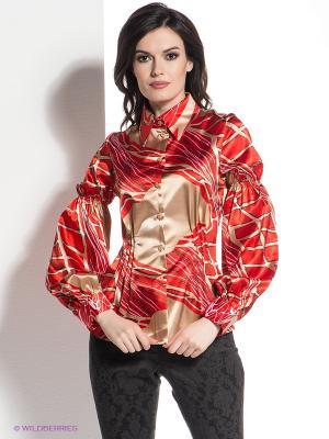 Блузка Levall. Цвет: красный