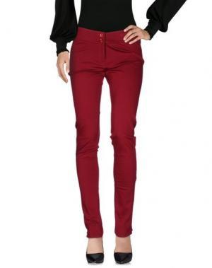 Повседневные брюки TRY ME. Цвет: красно-коричневый