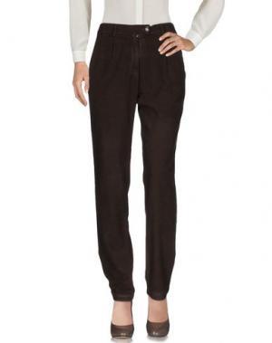 Повседневные брюки POMANDÈRE. Цвет: темно-коричневый