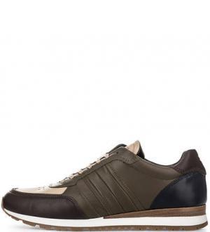 Кожаные кроссовки с вкладной стелькой Tommy Hilfiger. Цвет: коричневый