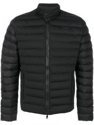 Стеганая куртка мешковатого кроя Hackett. Цвет: чёрный
