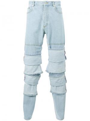 Многослойные джинсы Y / Project. Цвет: синий