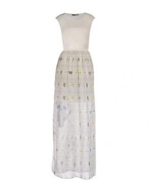 Длинное платье GRINKO. Цвет: слоновая кость