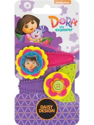 Набор заколок Букет Daisy Design. Цвет: фиолетовый