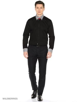 Рубашка Alex DANDY. Цвет: черный, белый