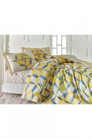Комплект постельного белья Marie claire. Цвет: yellow, grey, white