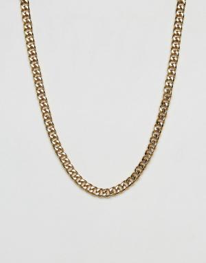MISTER Золотистая цепочка с крупными звеньями. Цвет: золотой