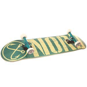 Скейтборд в сборе  Logo3 Green/White 8.25 (21 см) Nord. Цвет: зеленый,белый