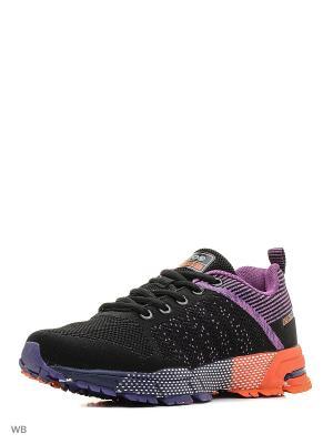 Кроссовки STROBBS. Цвет: черный, фиолетовый