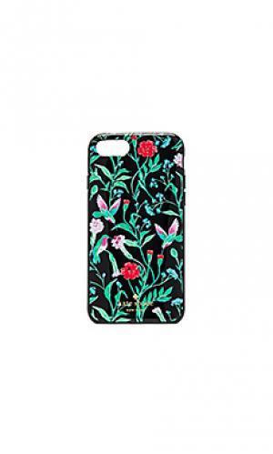 Украшенный чехол для iphone 7 jardin kate spade new york. Цвет: зеленый