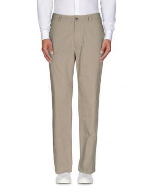 Повседневные брюки LEVIATHAN. Цвет: зеленый-милитари
