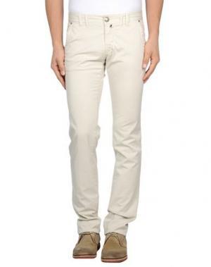 Повседневные брюки ONE SEVEN TWO. Цвет: слоновая кость