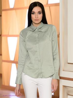 Блузка Satin. Цвет: серо-зеленый
