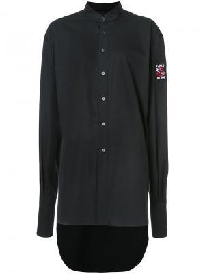 Объемное платье-рубашка Les Animaux. Цвет: чёрный