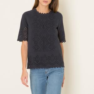 Блузка с английским шитьем HARTFORD. Цвет: темно-синий
