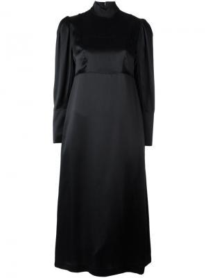 Платье с высоким горлышком Simone Rocha. Цвет: чёрный