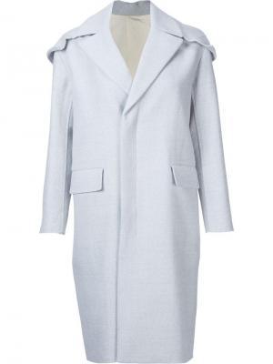 Пальто с капюшоном 08Sircus. Цвет: серый