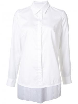 Рубашка с асимметричными складкми Jonathan Cohen. Цвет: белый