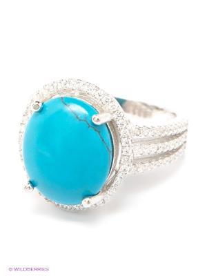 Кольцо Art Silver. Цвет: бирюзовый, серебристый