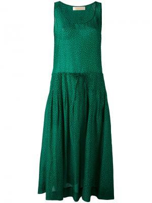 Платье с кулиской без рукавов Diane Von Furstenberg. Цвет: зелёный